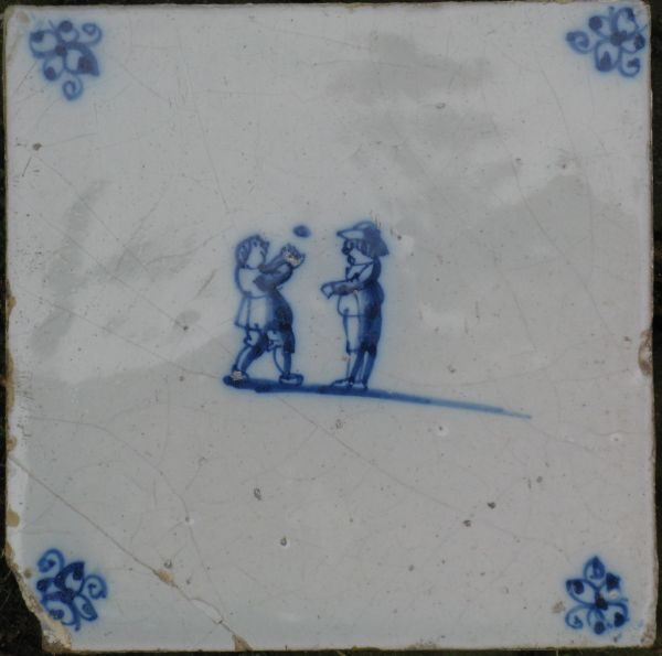 Antieke kinderspeltegel, balspel