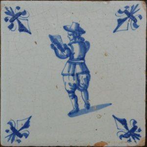 antieke figuurtegel, verzamelen van oude berepen