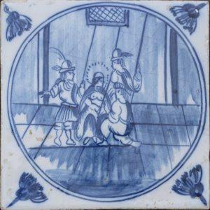Antieke Bijbeltegel, de bespotting