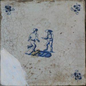 Antieke kinderspeltegel, hinkelen