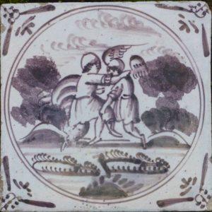 Antieke Bijbeltegel, Jacob en de engel