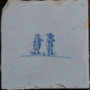 Antieke kinderspeltegel, beugelen