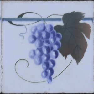 art deco tegel druiventros