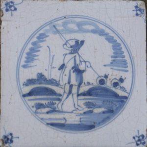 antieke herdertegel