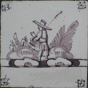 antieke tegel, herdertaferelenantieke wandtegeltjes