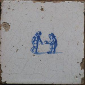 Antieke kinderspeltegel, klootschieten