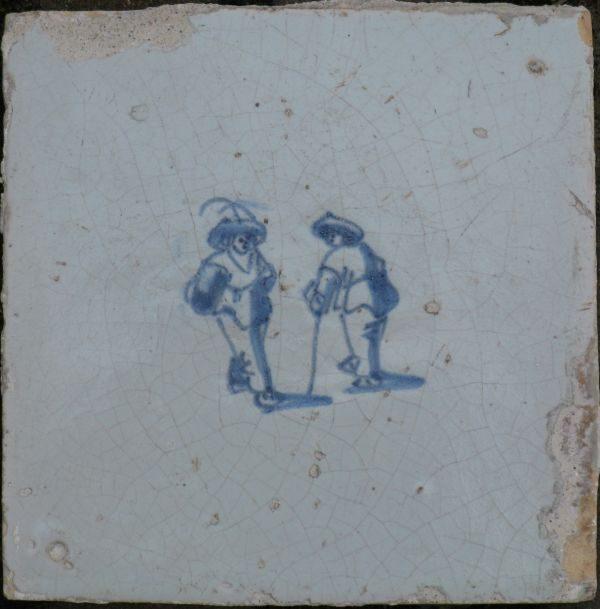 Antieke kinderspeltegel, kolven