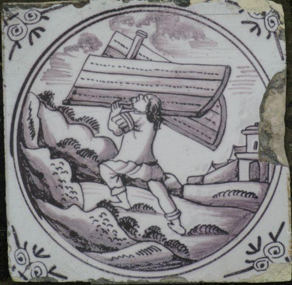 Antieke Bijbeltegel, Simson