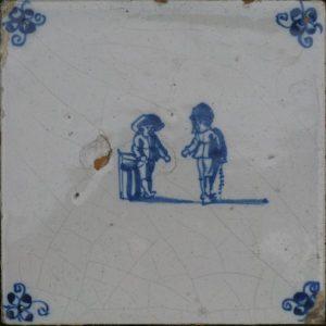 Antieke kinderspeltegel,