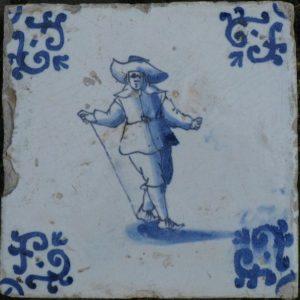 antieke figuurtegel,