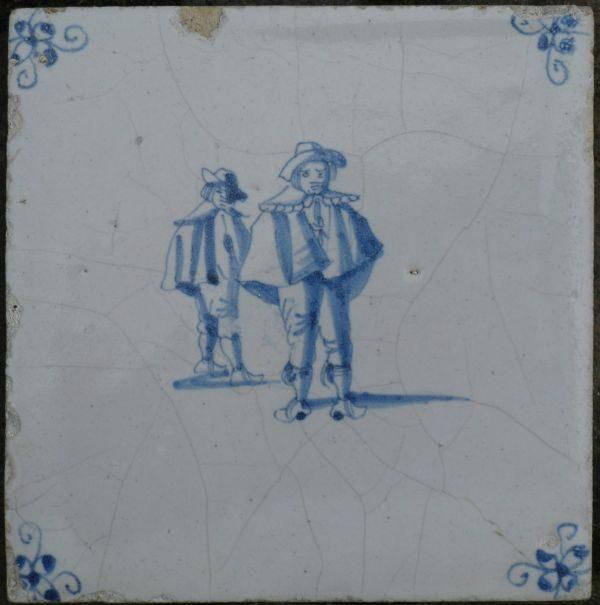 antieke figuurtegel genretegel