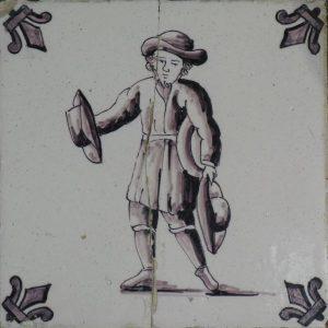 antieke figuurtegel verdwenen beroepen