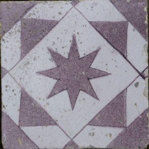 Antieke ornamenttegel, ster