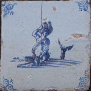 antieke mythologische tegel, zeewezen