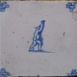 antieke figuurtegel sport op tegels