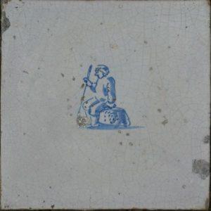 antieke figuurtegel marktkoopman