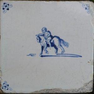 antieke paardetegel
