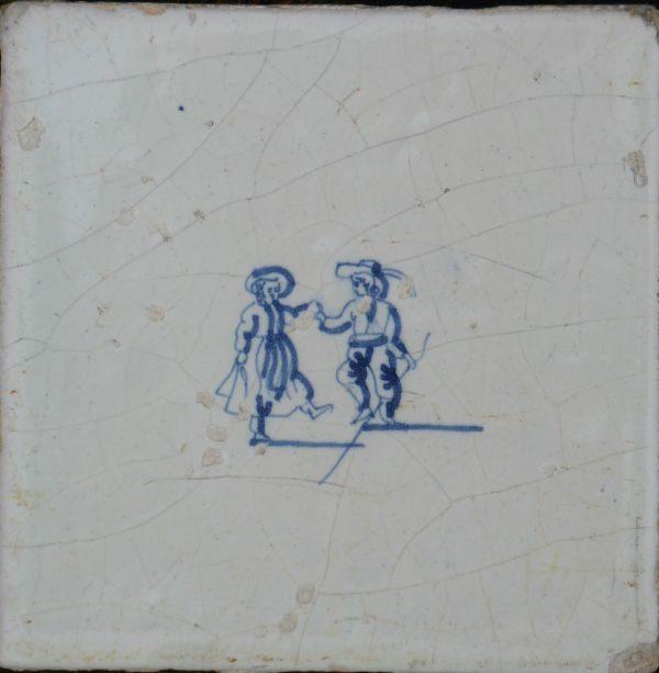 Antieke kinderspeltegel, dansen