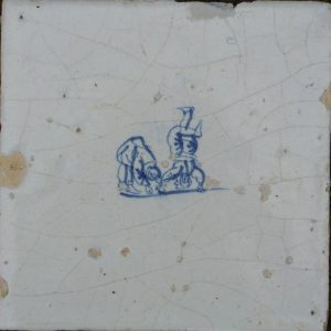 antieke tegel kinderspelen