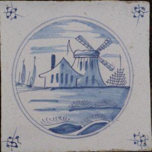 antieke molentegel