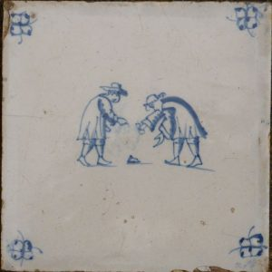 antieke kinderspeltegel