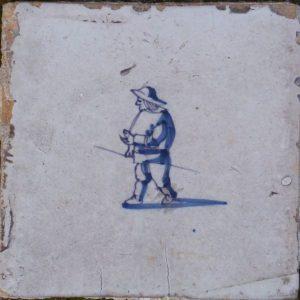 antiek muurtegeltje