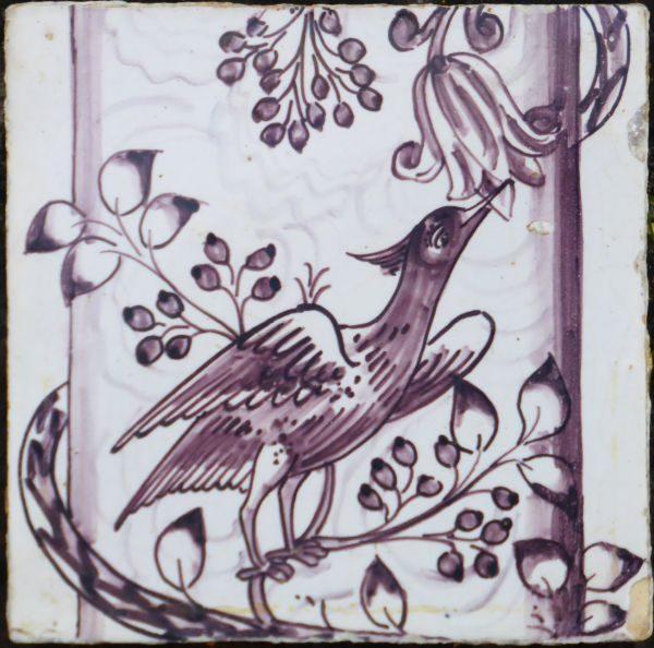 antieke vogeltegel