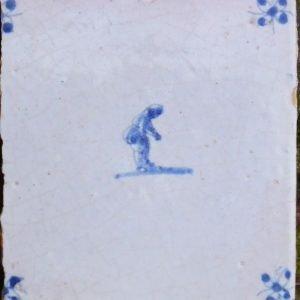 antieke figuurtegel