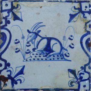 antieke diertegel
