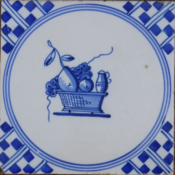 antieke vruchtentegel
