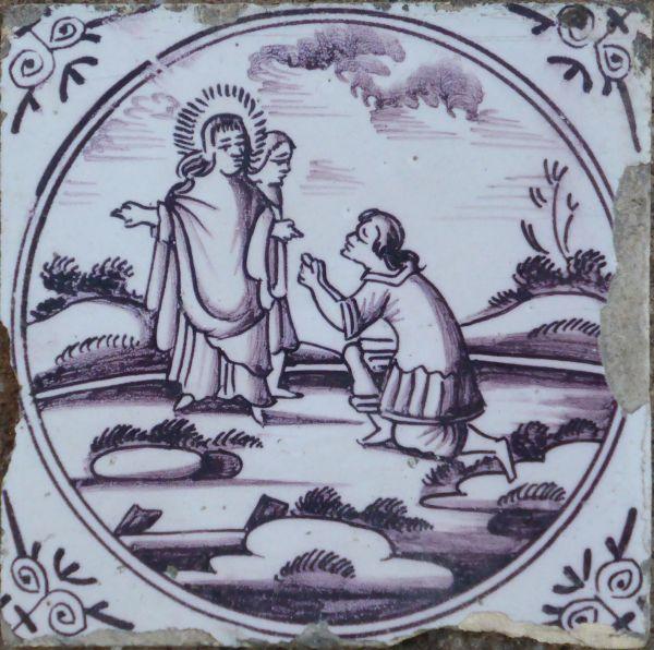 bijbeltegel jezus verschijnt aan magdala