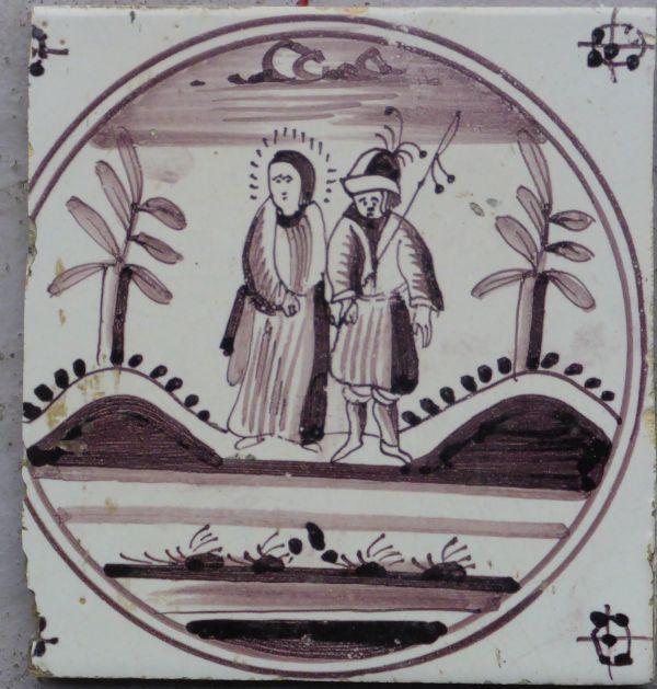 antieke bijbeltegel
