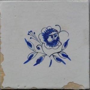 antieke friese bloemtegel