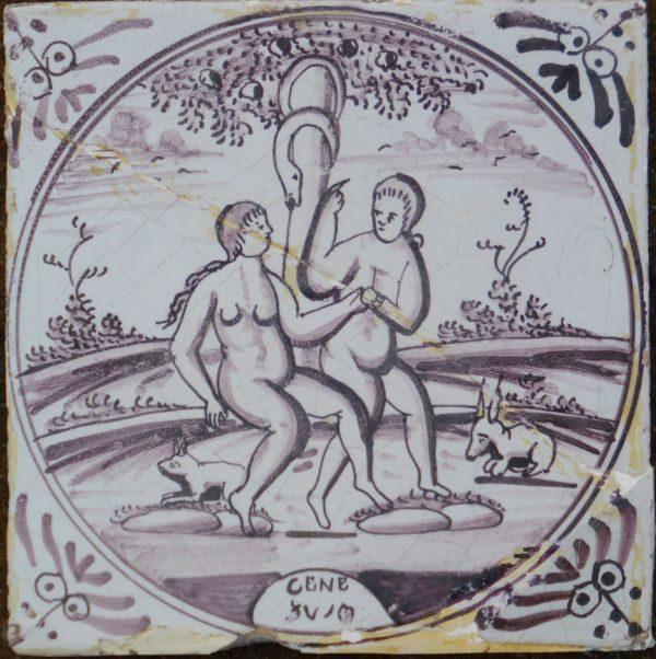 antieke bijeltegel