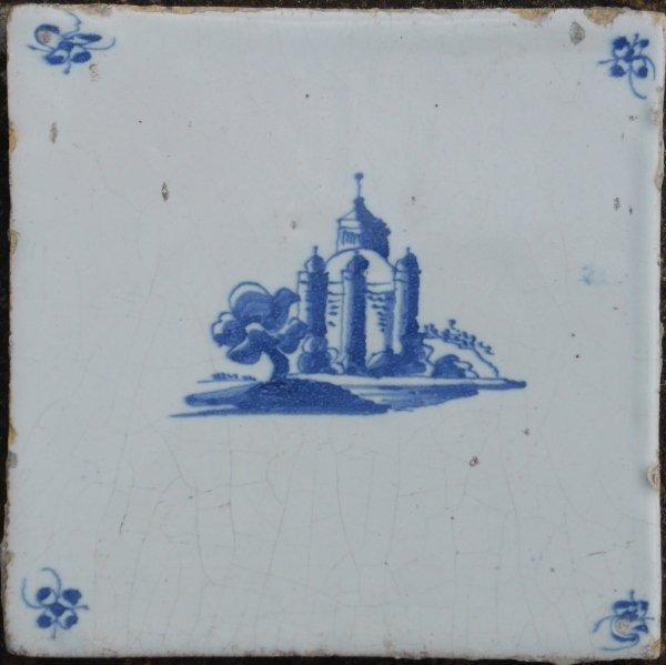 replica 20e eeuw van tegel uit de 17e eeuw